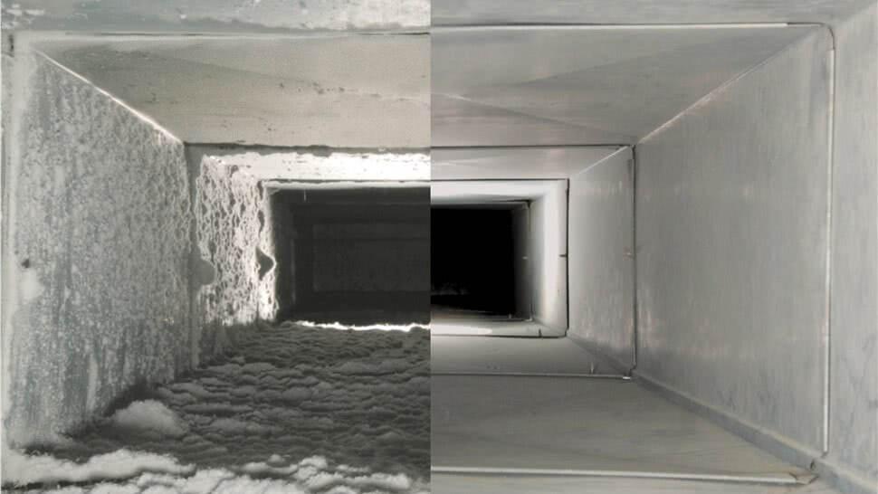 Clean/durty air duct